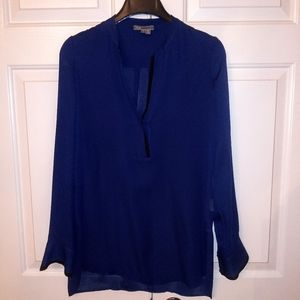Silk Navy blouse by Vince.